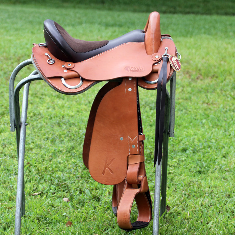"Endurance Flexible Saddle - 16"" Natural Oiled - In Stock"