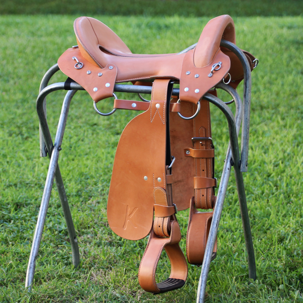 "McClellan Saddle - 15"" Light Oiled - In Stock"