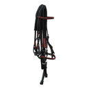 Black Bridle with Red Accents, Leather End Reins