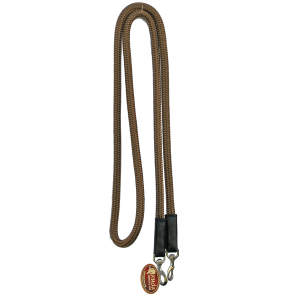 "Brown 5/8"" DB Nylon Reins with S.S Snaps"