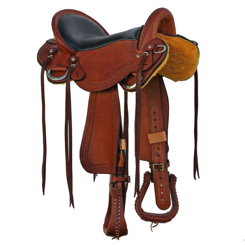 "Enduro Flex Saddle - 16.5"" Chestnut Narrow - In Stock"