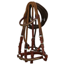 Brown Bridle with White Accents, and Light Brown Nylon