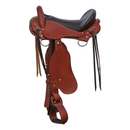 "Trail Saddle - 15.5"" Chestnut Narrow - In Stock"