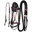 Premium Black Bridle with Pink Accents