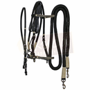 Black Leather Bridle Set with White Accents