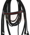 Black Leather Bridle with Red Accents