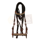 Brown Bridle with White Accents, and Dark Brown Nylon