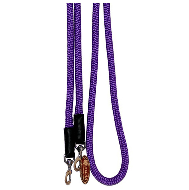 "Purple 3/4"" DB Nylon Rein with S.S Snaps"
