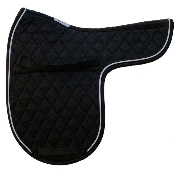 Quilted English Saddle Pad White Piping