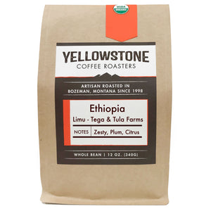 Ethiopia Limu Light Roast Single Origin Organic Coffee