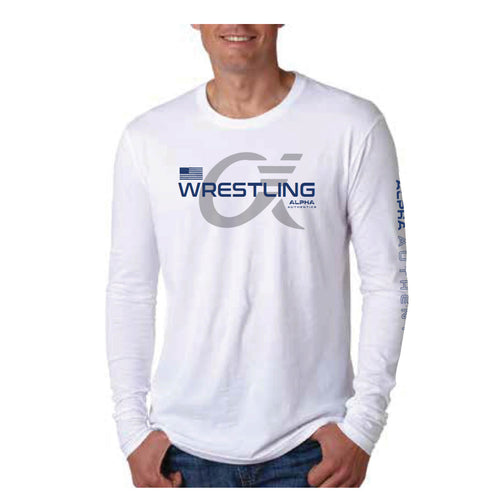 Alpha Wrestling Long Sleeve T-Shirt - White