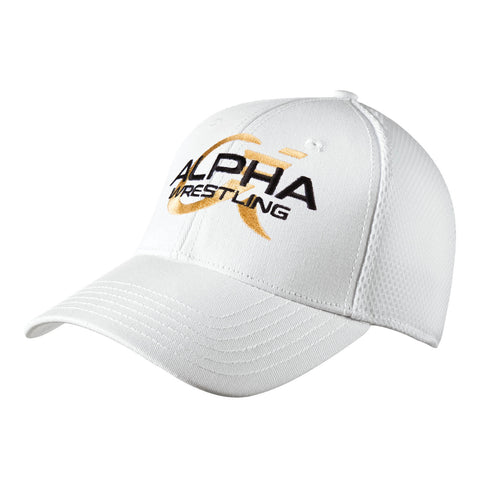 Alpha Wrestling Hat - White