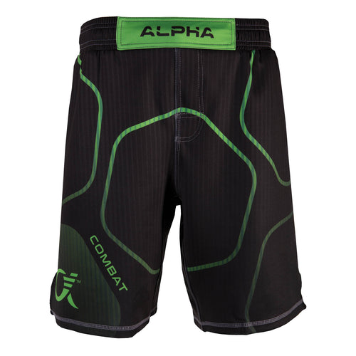 Alpha Fighter Shorts - Blk/Grn (Combat)