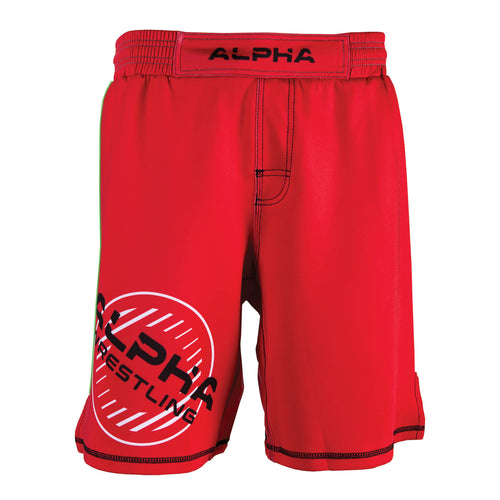 Alpha Wrestling Shorts - Red