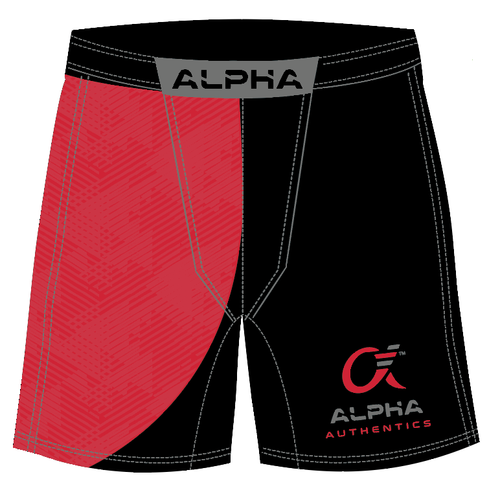 Alpha Fighter Shorts (red/black)