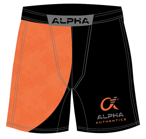Alpha Fighter Shorts (orange/black)