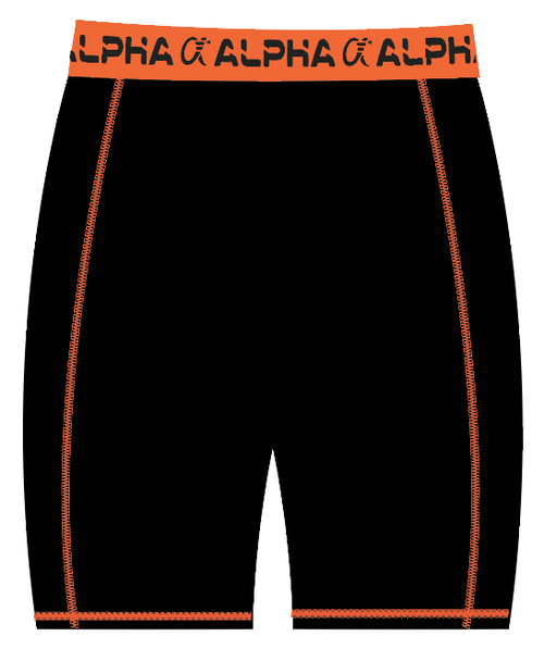 Alpha Compression Short (Black/Orange)