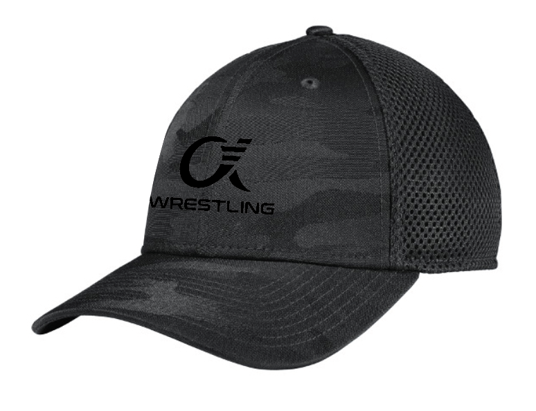 Alpha Wrestling Hat - Black Camo