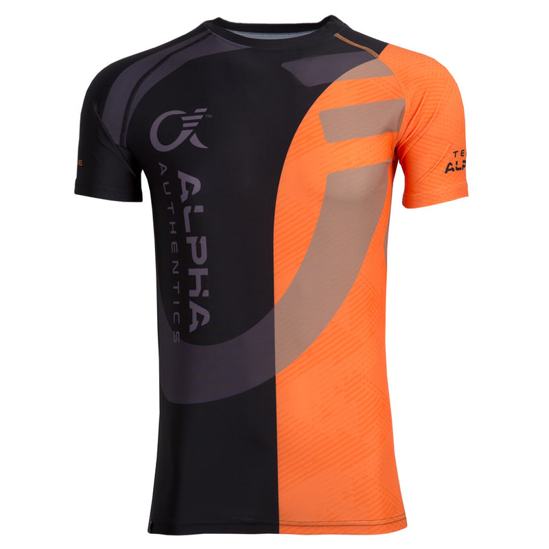 Alpha Compression Shirt (orange/black)