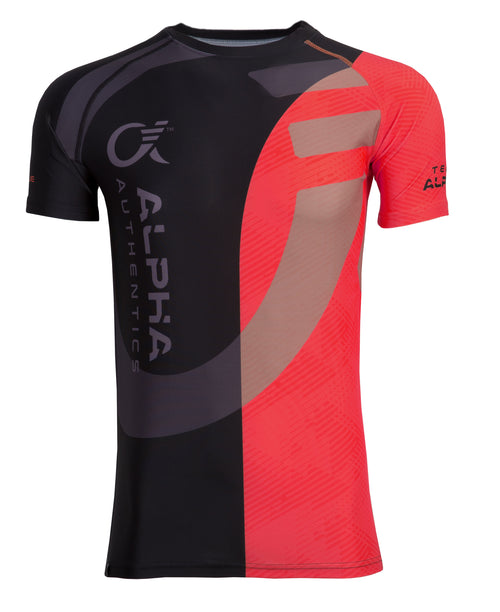 Alpha Compression Shirt (red/black)