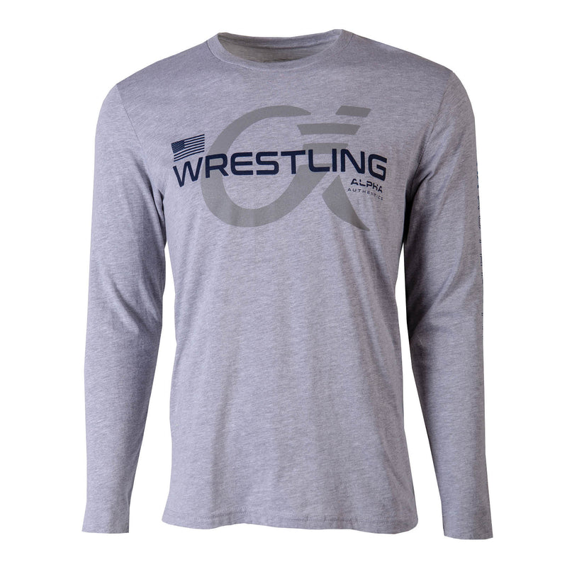 Alpha Wrestling Long Sleeve T-Shirt - Grey