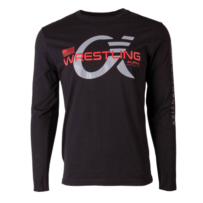 Alpha Wrestling Long Sleeve T-Shirt - Black