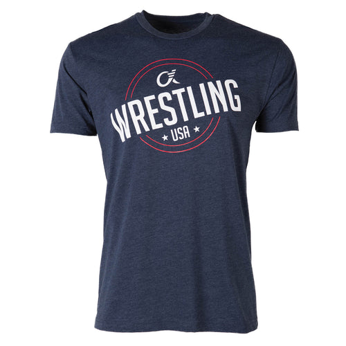 Alpha Wrestling T-Shirt - USA - Navy