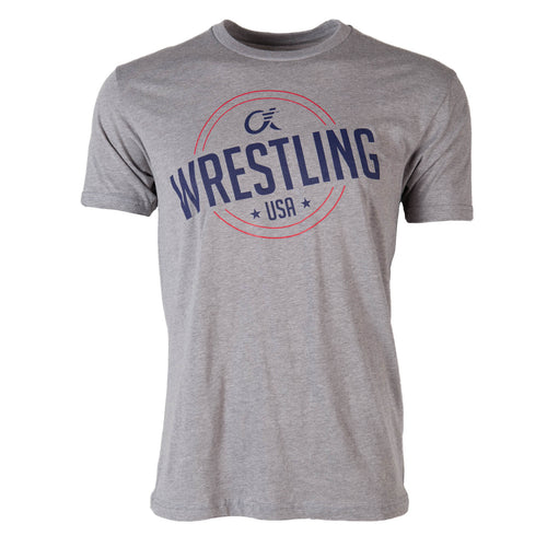Alpha Wrestling T-Shirt - USA - Grey