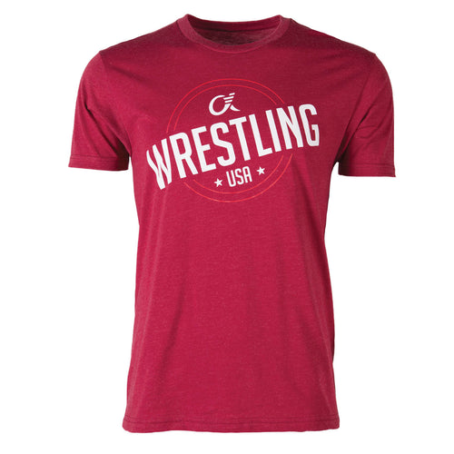 Alpha Wrestling T-Shirt - USA - Cardinal