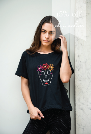 Playera Frida Calaca