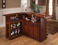 Hillsdale Furniture Classic Large Cherry Bar with Side Bar