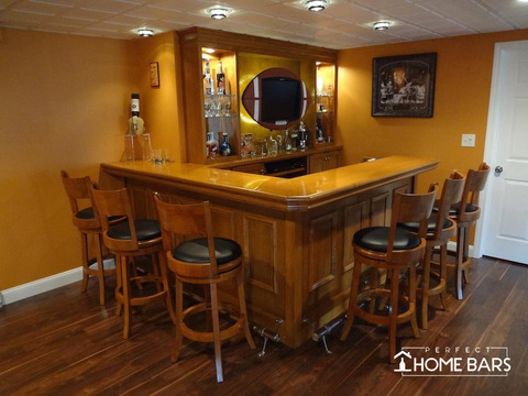 Custom Home Bar Example
