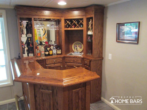 Custom Home Bar Wine Storage
