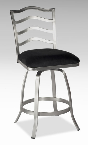 Chintaly Imports Memory Return Swivel Stool Available in Bar or Counter Height