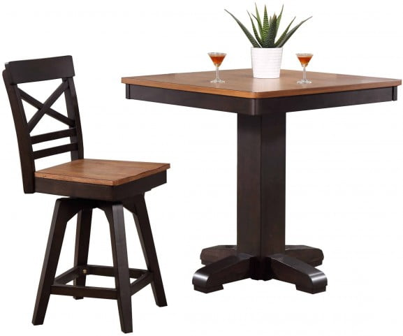 Choices Complete Pub Table, Black Oak Open View