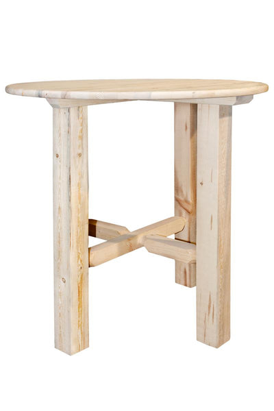 "Montana Woodworks Homestead Collection 40"" Wood Bistro Table - Perfect Home Bars"