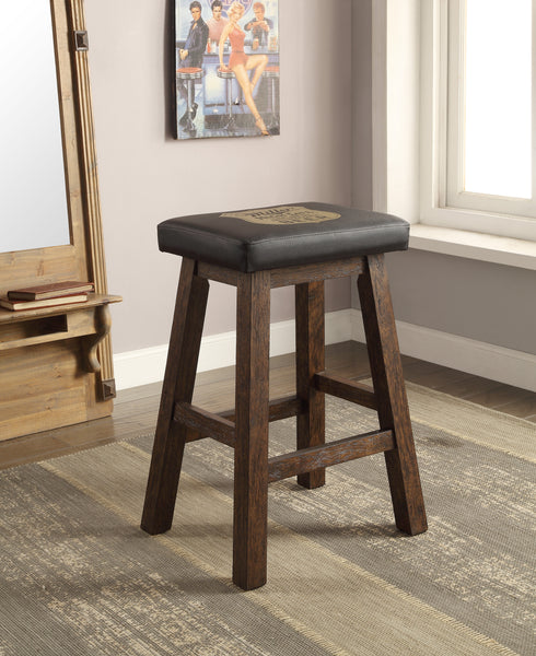 "ECI Furniture Miller High Life 30"" Saddle Bar Stool - Perfect Home Bars"