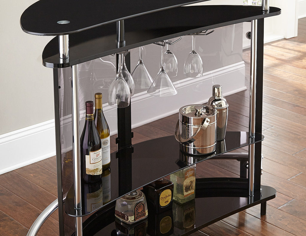 Steve Silver Ariana Bar Table Back View - Perfect Home Bars
