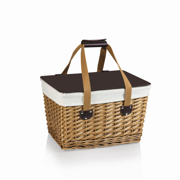 Picnic Time Canasta-Natural Flat Lid Basket - Perfect Home Bars