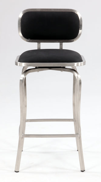 Chintaly Imports Modern Swivel Stool Available in Bar and Counter Height