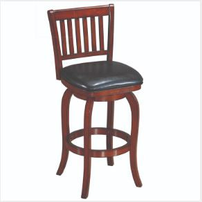 Ram Game Room Backed Bar Stool - Square Seat