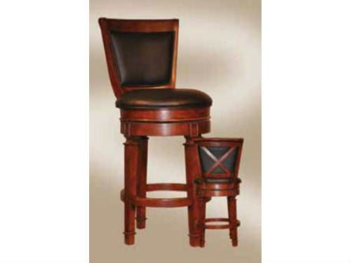 "ECI Furniture Monticello 30"" Pub Game Stool in Distressed Walnut - Perfect Home Bars"