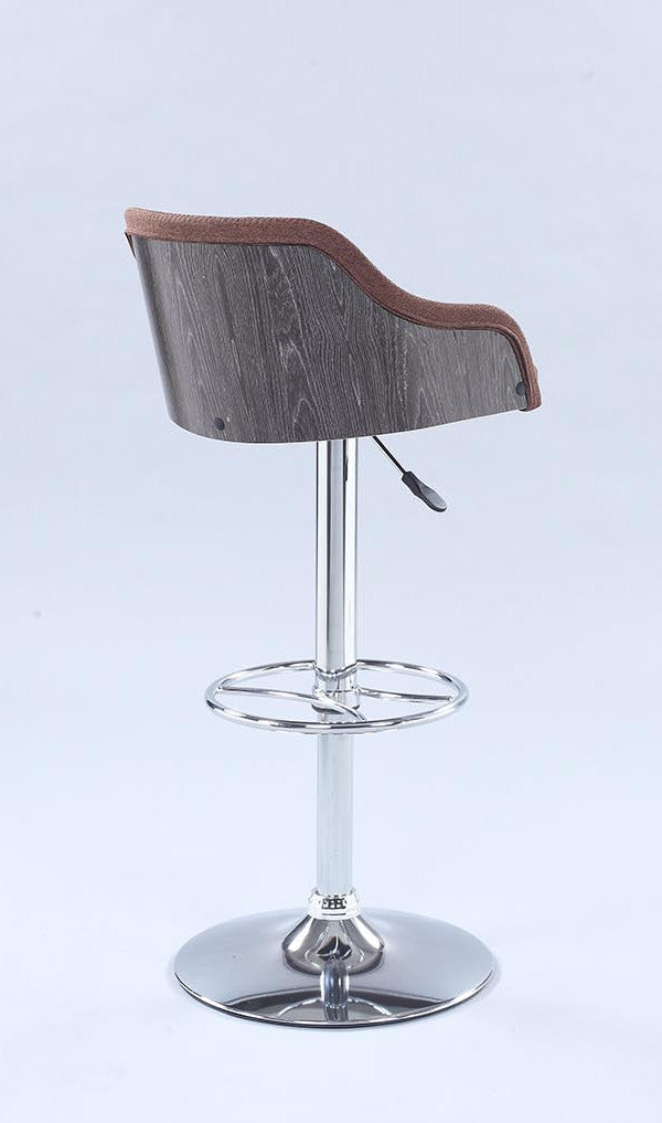 Chintaly Imports Pneumatic Rolling Back Adjustable Swivel Stool