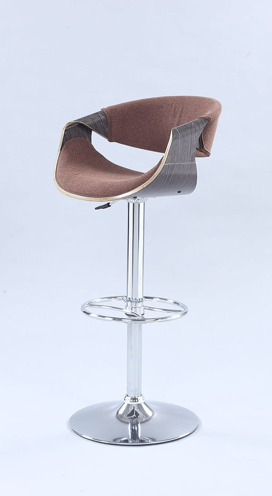 Chintaly Imports Pneumatic Bentwood Saddle Seat Adjustable Stool - Available in Brown or Black