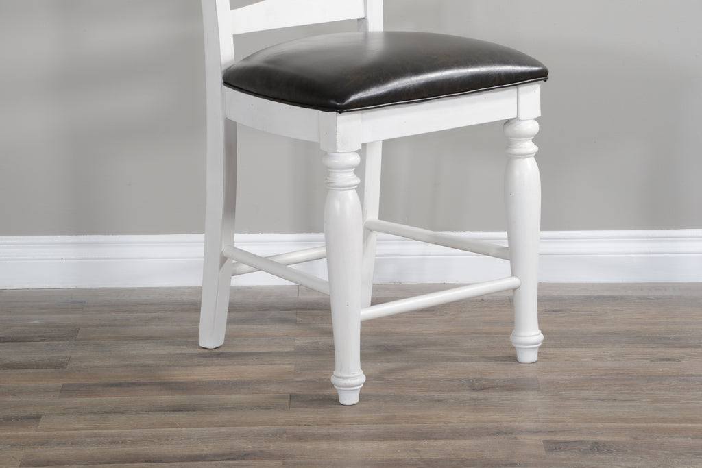 Sunny Designs Carriage House Ladderback Barstool Seat View