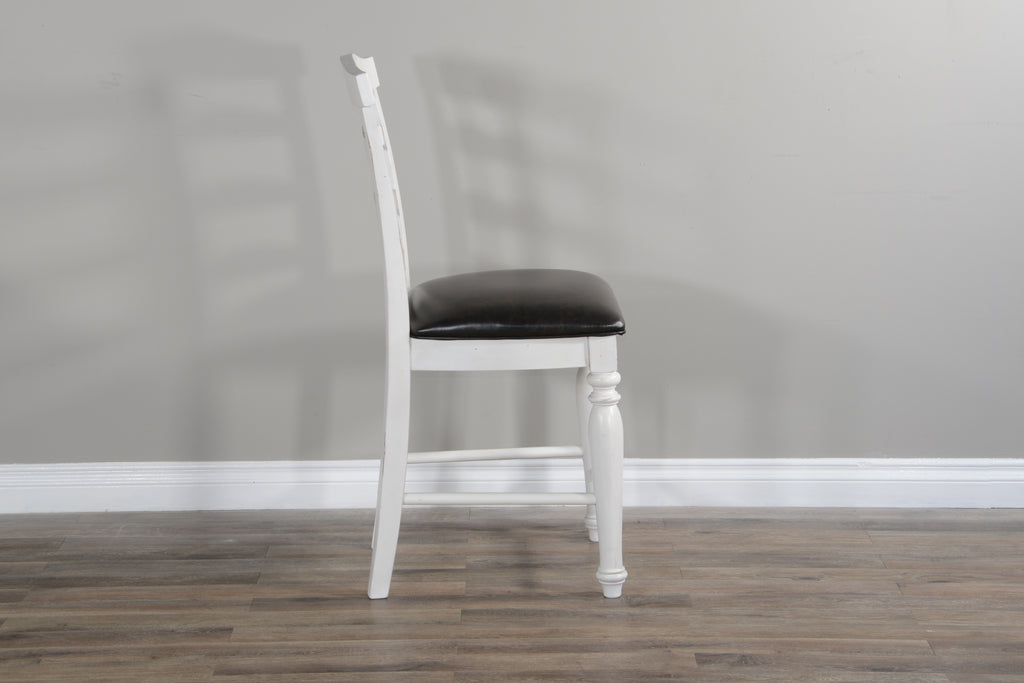 Carriage House Ladderback Barstool Side View