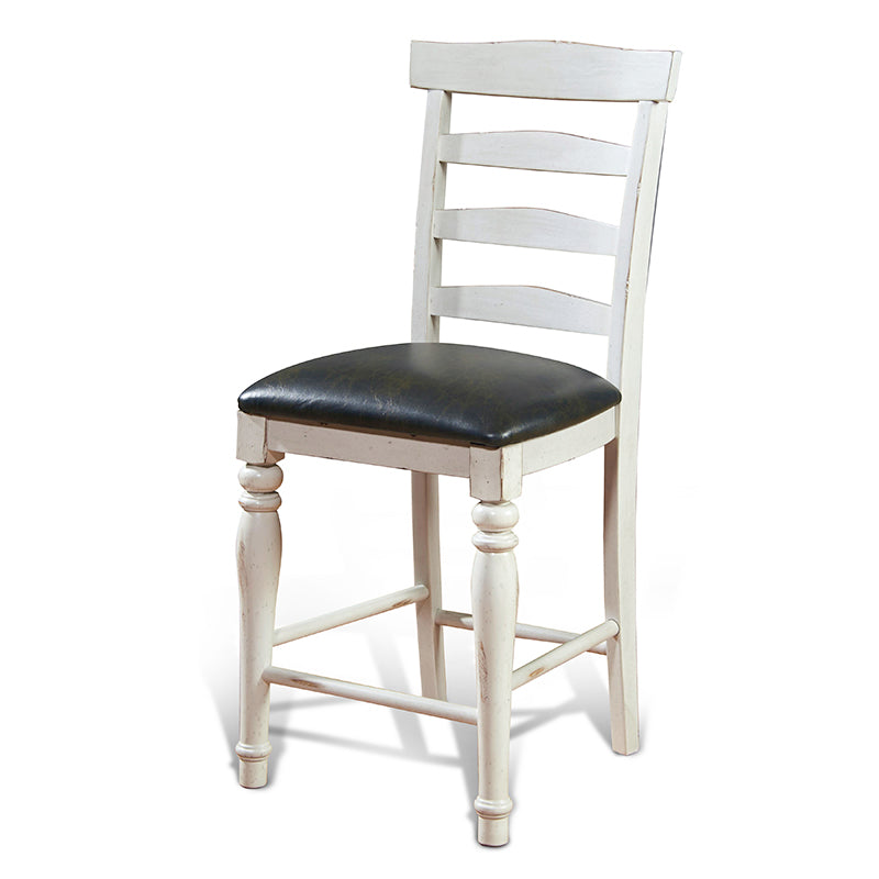 Sunny Designs Carriage House Ladderback Barstool Clipped View