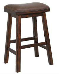 "Gettysburg 30"" Saddle Stools Front View"