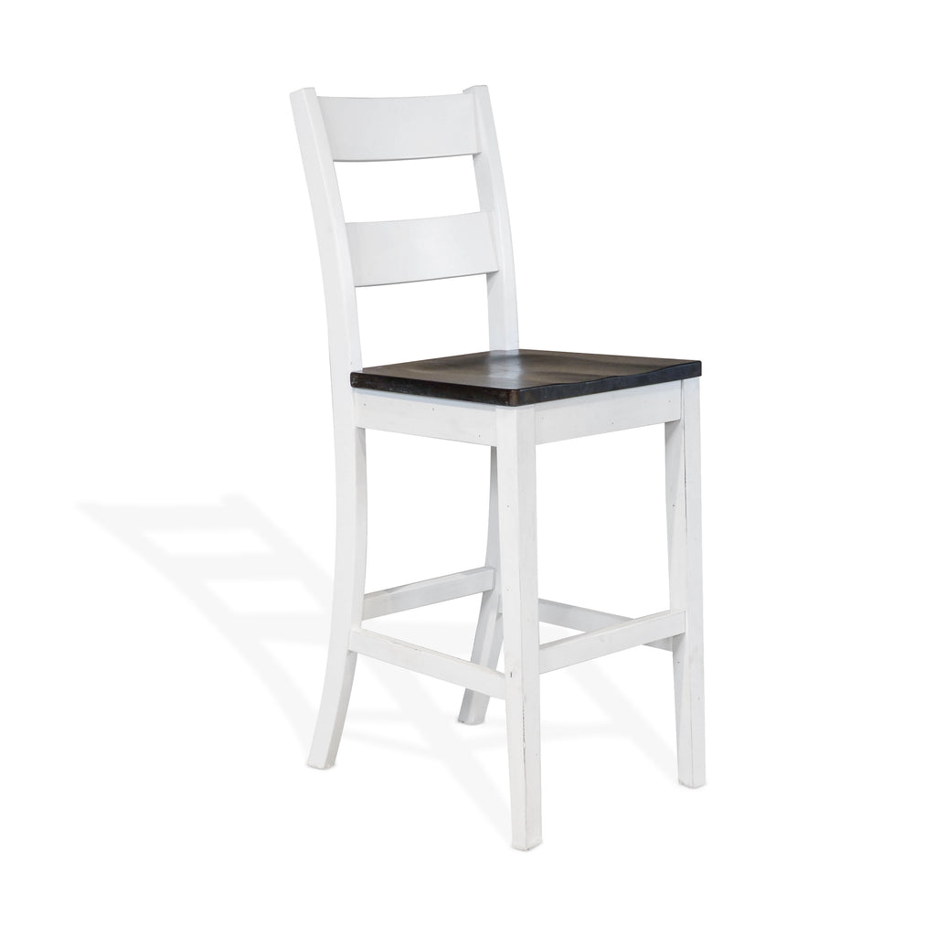 Ladderback Bar Stool available in Bar and Counter Height Clipped View