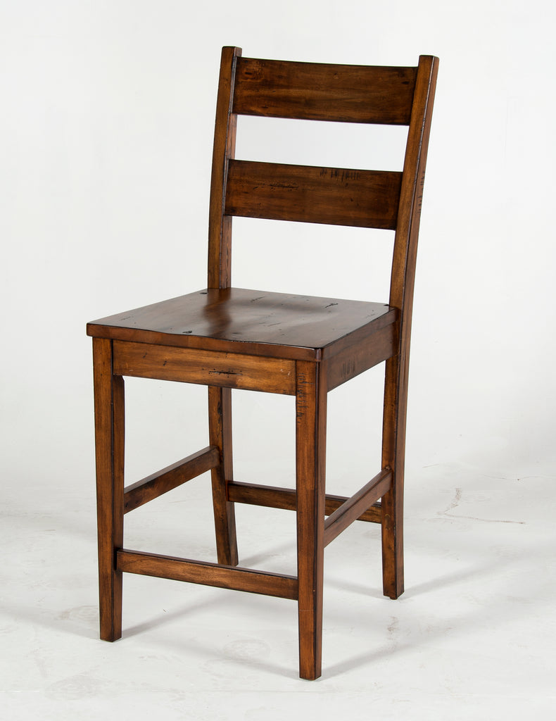 "Sunny Designs Tuscany Ladder-back Bar Stool- 24"" Seat Height"
